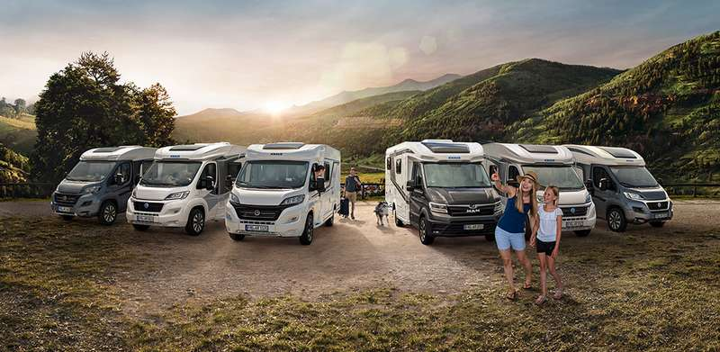 Partly integrated motorhomes