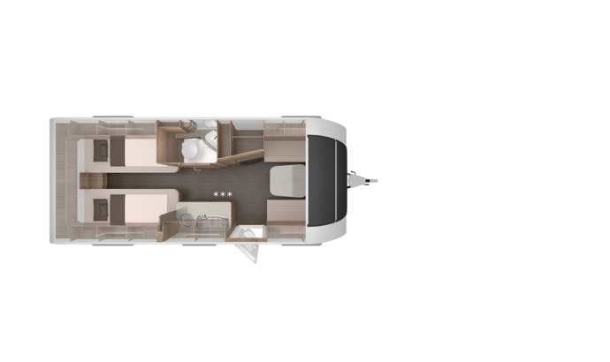 Caravan SPORT SILVER SELECTION 540 UE - Grundriss Overview
