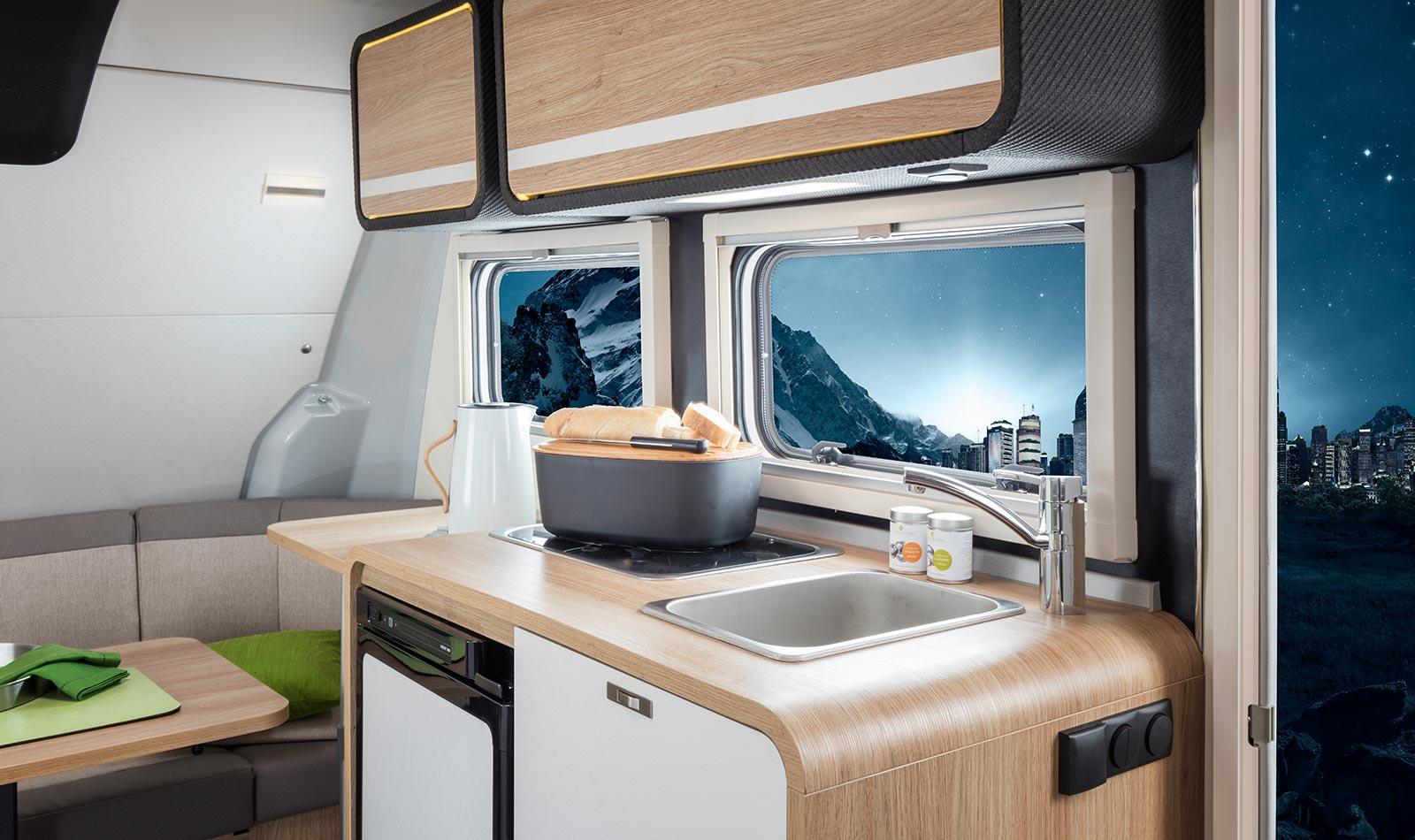 knaus travelino revolution fortschrittliche caravan. Black Bedroom Furniture Sets. Home Design Ideas