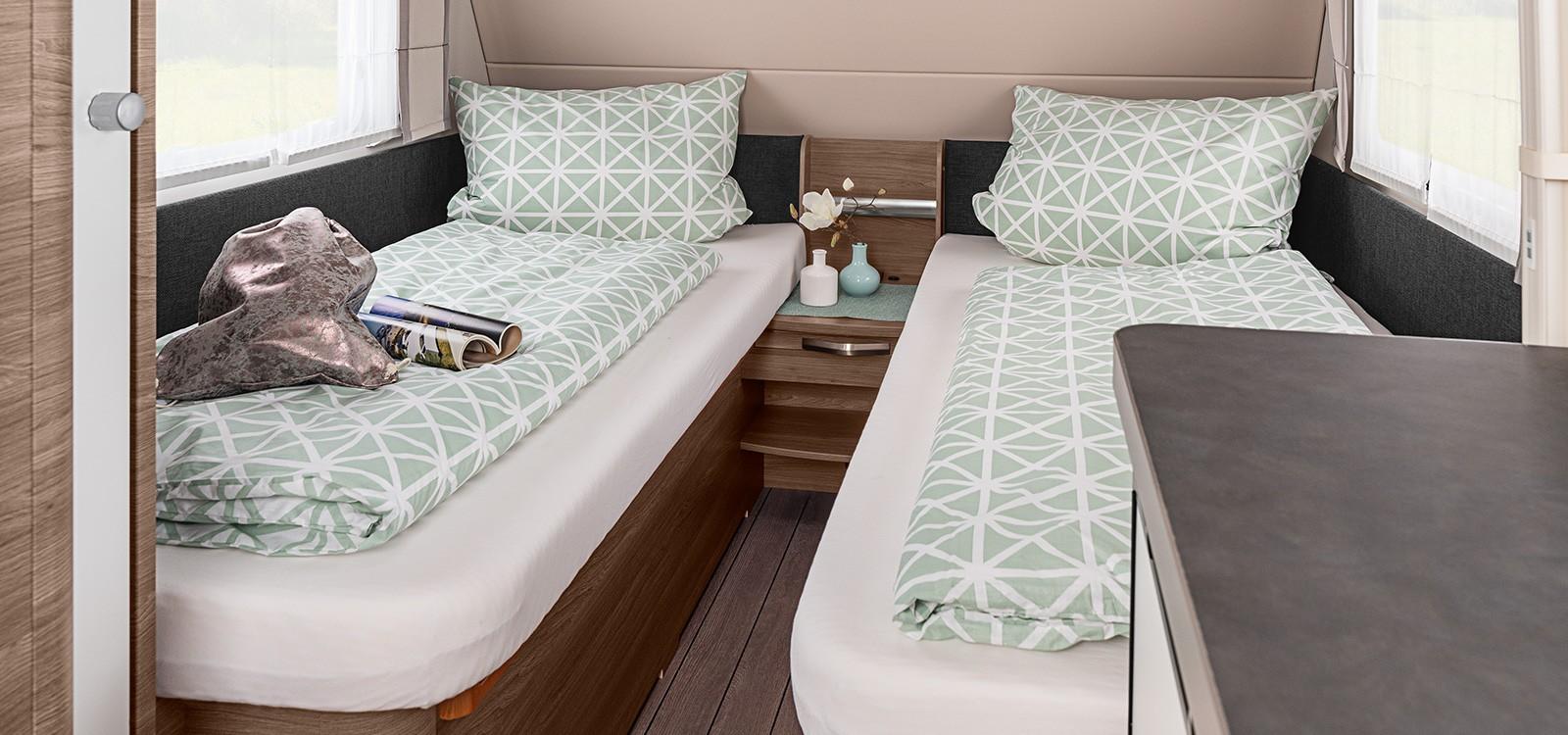 Bett-, Küchen- & Badvarianten Caravans  KNAUS